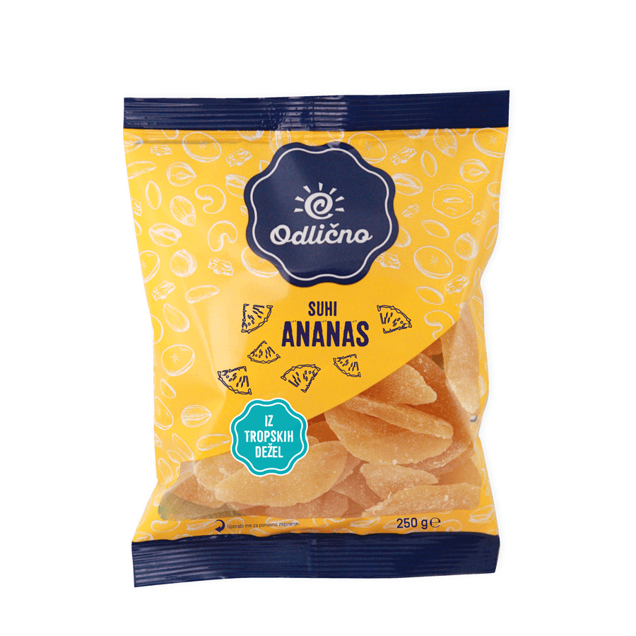 Dried Pineapple Odlično, 250 g