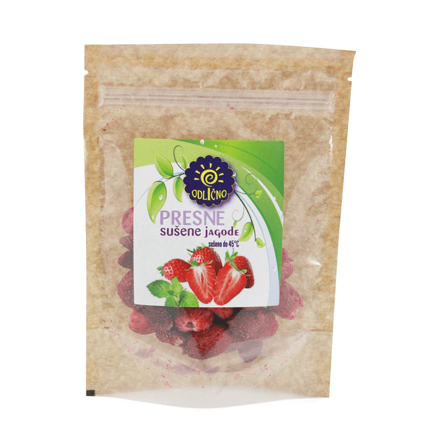 VACUUM DRIED Strawberries Odlično, 30 g