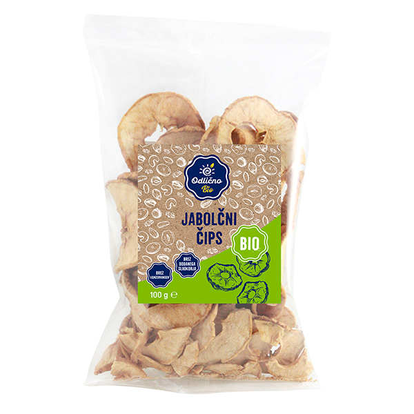 ORGANIC Apple crisps Bio Odlično, 100 g
