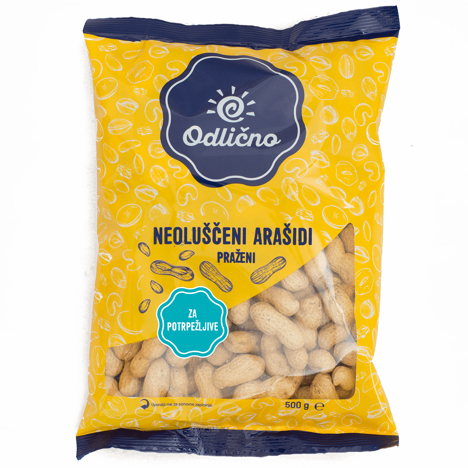 Roasted unshelled Peanuts Odlično, 500 g