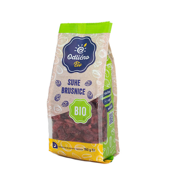 ORGANIC dried Cranberries bioOdlično, 150 g