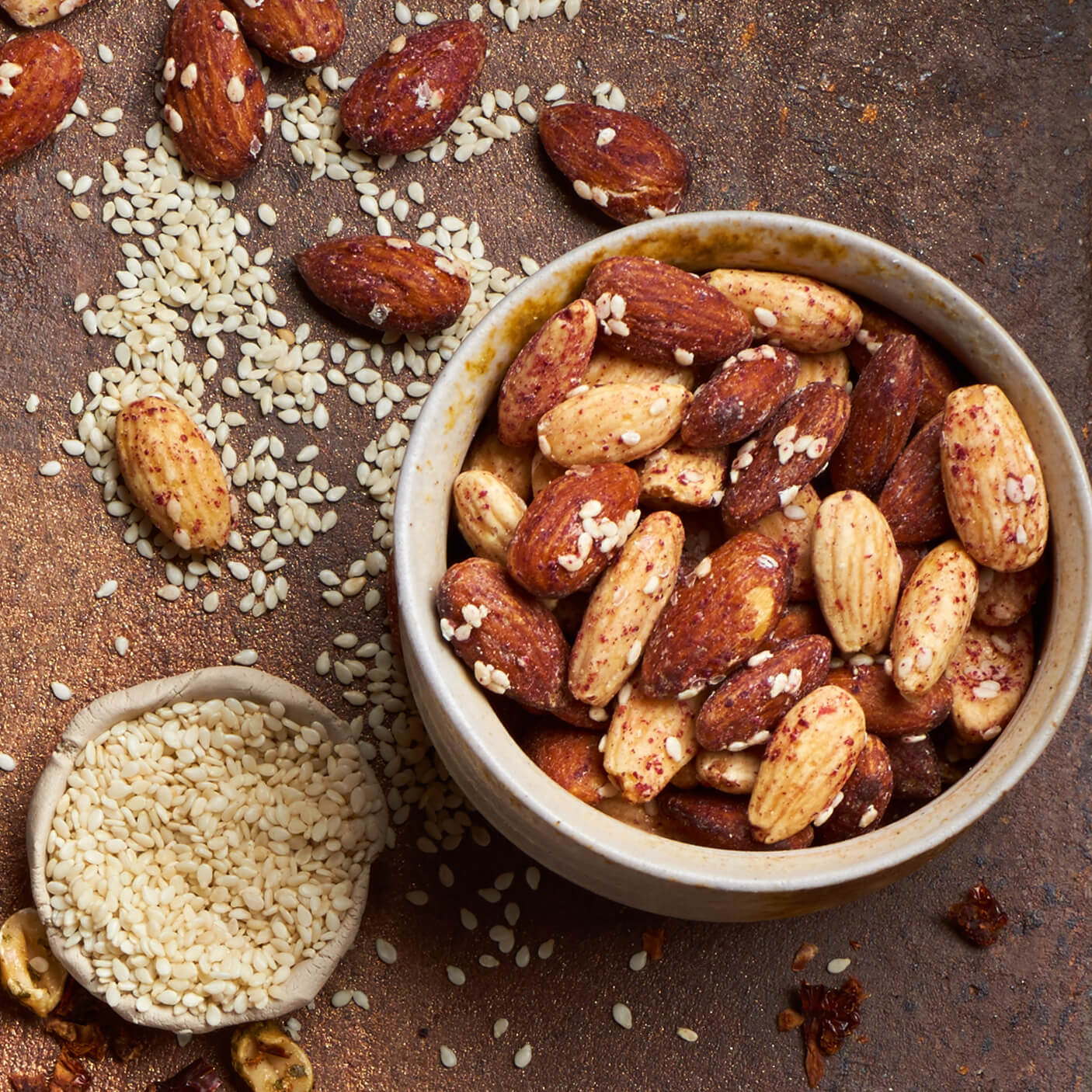 Honey & Sesame Almonds with Cranberries Tasty