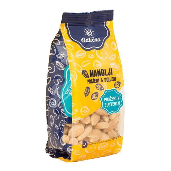 Roasted & salted Almonds Odlično, 150 g